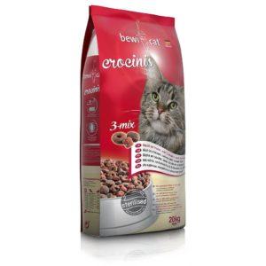 سعر دراي فود بيفي للقطط كرونسنيس ميكس بطعم الديك الرومي والفراخ والسمك حجم 20 Bewi Cat Food Coroncinis 3 Mix